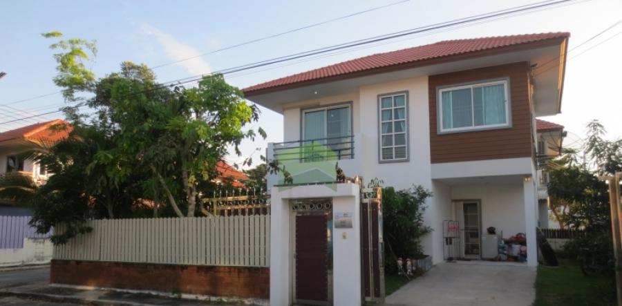 ขายด่วน บ้านเดี่ยว 2 ชั้น หมู่บ้านสุขุมวิท1 แปลงมุม เนื้อที่ 55.90 ตร.ว, ต.บางสมัคร อ.บางปะกง จ.ฉะเชิงเทรา