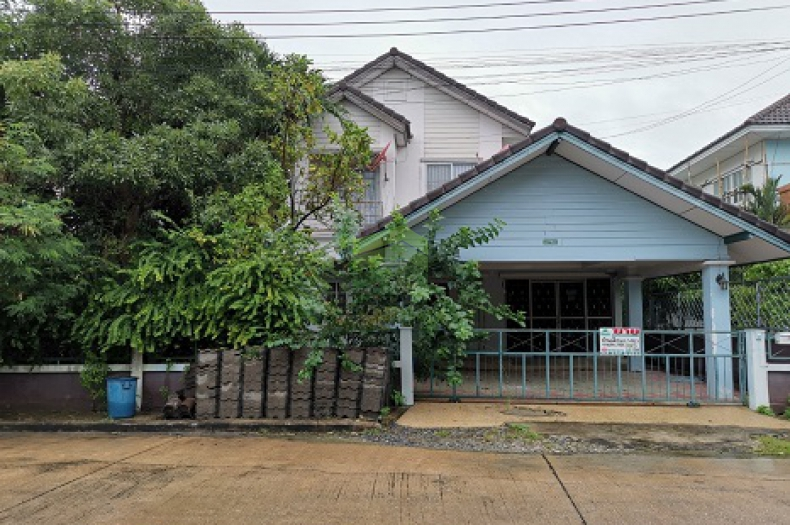 หมู่บ้าน ฟ้าชมพฤกษ์ ขายด่วน บ้านเดี่ยว 2 ชั้น เนื้อที่ 61.30 ตร.ว ลำลูกกา คลอง 8 ทำเลดี