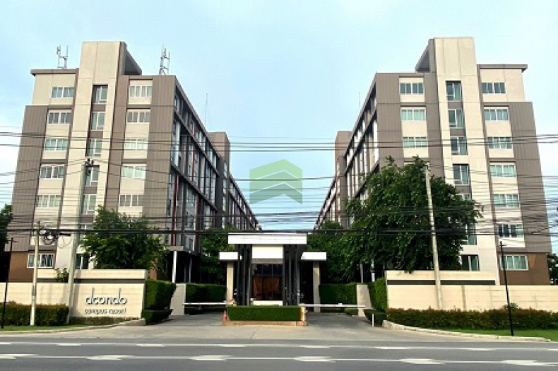 ดี คอนโด แคมปัส รีสอร์ท บางนา D-Condo Campus Resort Bangna ขายด่วน คอนโด 30.05 ตร.ม ชั้น 4 ตึก summer A พร้อมเฟอร์ครบชุด