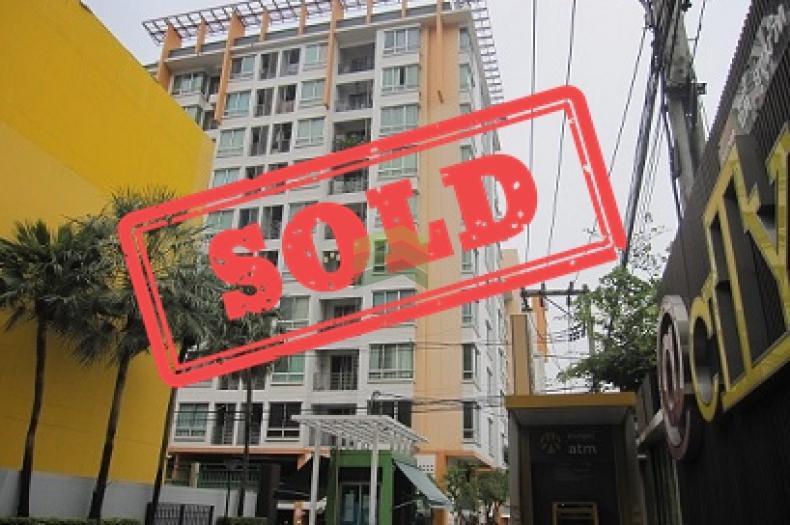 ขายด่วน คอนโด  แอท ซิตี้ สุขุมวิท  @ City Sukhumvit   35.94 ตร.ม ขายขาดทุน ถูกมาก ตกแต่งแล้ว พร้อมเข้าอยู่