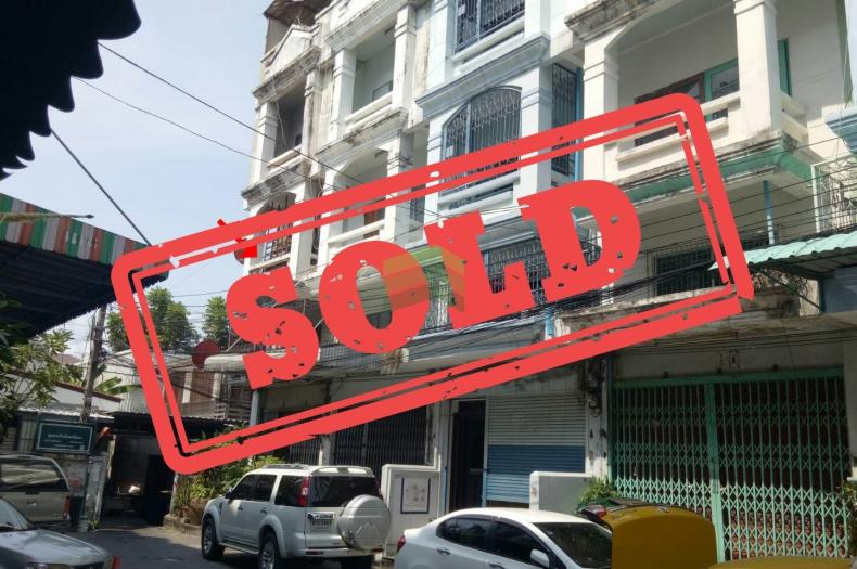 หมู่บ้าน สินทวี เซ็นเตอร์ ขายถูก อาคารพาณิชย์ 4 ชั้น เนื้อที่ 17.10 ตร.ว หลังมุม (ซอย วัดสีสุก) บก.น.8  จอมทอง