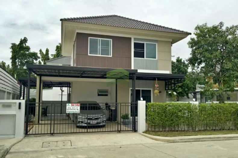 หมู่บ้าน เพอร์เฟค พาร์ค สุวรรณภูมิ ร่มเกล้า6/1 ขายด่วน บ้านเดี่ยว 2 ชั้น Perfect Park Suvarnabhumi  เนื้อที่ 55.30 ตร.ว แปลงริม  ร่มเกล้า มีนบุรี กรุงเทพฯ