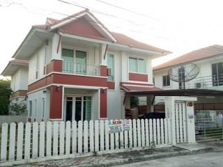 N0600957, ขาย ให้เช่าด่วน หมู่บ้าน สุขุมวิท1 บางสมัคร บ้านเดี่ยว 2 ชั้น เนื้อที่ 56 ตร.ว  บางปะกง ฉะเชิงเทรา
