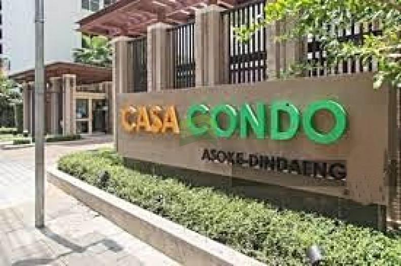คาซ่า คอนโด อโศก-ดินแดง ขายด่วน Casa Asoke Dindaeng ชั้น 18 เนื้อที่ 25.96 ตร.ม. ทำเลดี ใกล้ BTS อนุสาวรีย์ และ MRT พระราม 9 พร้อมเฟอร์ฯ พร้อมอยู่