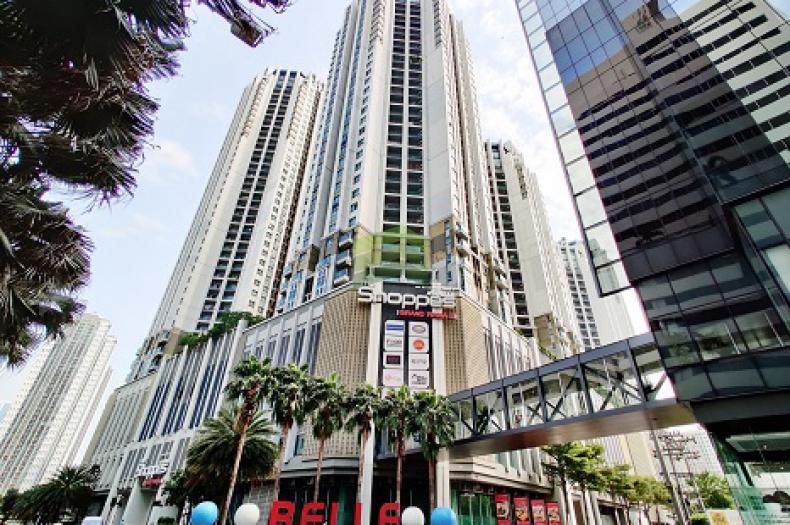 Urgent Sale Belle Grand Rama9 Condo (คอนโด เบ็ล แกรนด์ พระราม9) Utility Space 60.10 sq.m. 2 Bedrooms, sale with furniture near Rama9 MRT